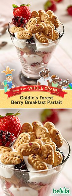 Want a great way to bring your favorite breakfast bites together? This quick-and-easy recipe is just right. Crunchy whole grain belVita Breakfast Bites are layered between Greek-style yogurt and fresh fruit for a breakfast parfait you can feel good about. Breakfast Bites, Breakfast On The Go, Breakfast Parfait, Yummy Snacks, Snack Recipes, Yummy Food, Parfait Recipes, Probiotic Foods, Home Baking