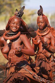 Dancing Himba Girls, Namibia