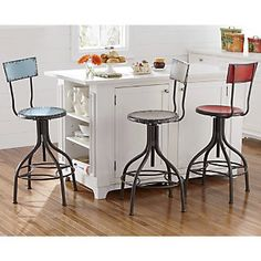 Adjustable Retro Stool from Through the Country Door® - This would totally save the whole dilemma of bar hieght vs seat height!