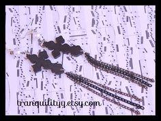 Wooden Cross Earrings Amazing Grace Cross  Earrings, Blessings, Faith, Prosperity ,925 Sterling Sliver Hooks Handmade By: Tranquilityy by tranquilityy on Etsy
