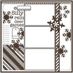 Basic Scrapbook Sketch : 12.26.11 | BasicGrey Blog....like the title and layout.  Page to place photos of games we play at family Christmas.