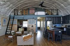 quonset hut homes interiors - Google Search