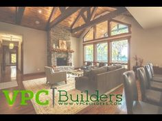 Check out this gorgeous custom home by VPC Builders with beautiful views inside and out.
