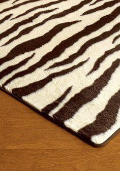 """Brown Zebra Print Rug 40"""" X 60"""""""