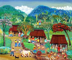 The Watermelon Vendor by Karmen Garcia - GINA Gallery of International Naive Art