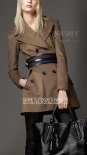 19031d5e4fe Burberry - Fitted Wool Cashmere Pea Coat Burberry Jacket