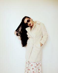 CREAM MOD FUR Jacket Faux White 60s 70s Mod Hippy Coat Junior look Winter Vegan Sheep Skin Wedding Almost Famous by LibertyCrush on Etsy