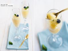 Sorbete de cava, naranja y limón. Receta de Navidad  http://www.directoalpaladar.com/postres/sorbete-de-cava-naranja-y-limon-receta-de-navidad