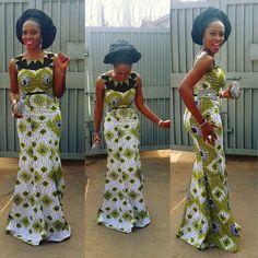 Creative Long Ankara Gown http://www.dezangozone.com/2015/07/creative-long-ankara-gown-style.html - Ankara Design ~African fashion, Ankara, kitenge, African women dresses, African prints, Braids, Nigerian wedding, Ghanaian fashion, African wedding ~DKK