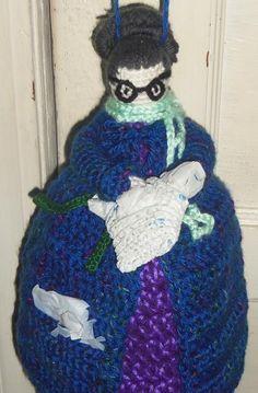 crochet+holder+pattem. | Bag Lady Plastic ... by SICKLILMONKEYS | Crocheting Pattern