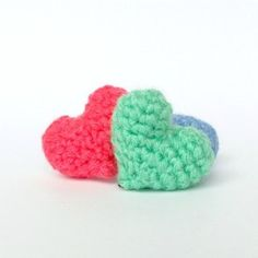 Try this simple crochet pattern for tiny plush hearts! This is an easy-to-follow, step-by-step photo tutorial perfect for beginners!