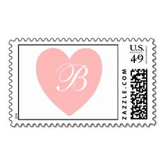 Pink Heart Monogram Postage Stamp We have the best promotion for you and if you are interested in the related item or need more information reviews from the x customer who are own of them before please follow the link to see fully reviewsReview          Pink Heart Monogram Postage St...