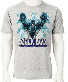 a08eb8588 Black Bolt Dri Fit graphic T-shirt moisture wicking SPF retro comic sport  tee -