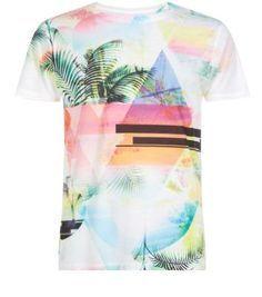 Pink Neon Palm Print T-Shirt