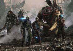 Thor Ragnarok : Scavengers, Aleksi Briclot on ArtStation at https://www.artstation.com/artwork/1yEae