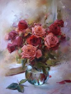 Oleg Buiko Still Life Roses