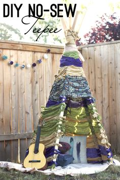 DIY No-Sew Teepee | Build this no-sew teepee perfect as a fort for the kids. Click thru for tutorial!