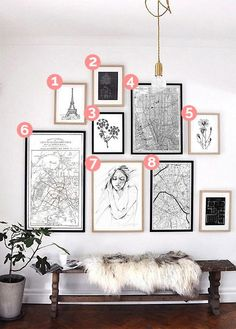 Gallerie photo en noir et blanc Big Wall Art, White Wall Art, Photo Deco, Inspiration Wall, Cool Walls, Picture Wall, Frames On Wall, Wall Design, Decoration