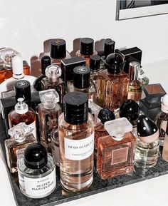 These Are the Most Popular Fragrances Among Fashion People – Fashionista. Perfum… These Are the Most Popular Fragrances Among Fashion People – Fashionista. Perfume Storage Ideas and Inspiration For Karen Gilbert Perfume Storage, Perfume Organization, Perfume Display, Makeup Organization, Bandeja Perfume, Parfum Victoria's Secret, Popular Perfumes, Dolce E Gabbana, Best Perfume