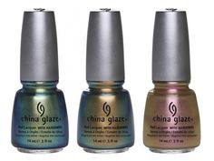 China Glaze: Unpredictable  China Glaze: Rare and Radiant  China Glaze: Swanky Silk