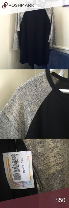 🎉In✨Lularoe Elegant Randy 2XL NWT Top Nwt Randy Elegant. Black body. The sleeves are cream and black speckle and with gold shimmer all over.. Randy runs true to size. Not a consultant here. Posh takes 20%. Best offer. Pls check at my listing for classic unicorns, Disney and Holidays. 🎉✨ LuLaRoe Other
