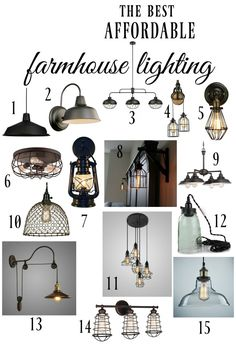 The best affordable farmhouse style lighting options. Must pin for any room of the house and any budget. 15 amazing looks you'll love! | www.knickoftime.net