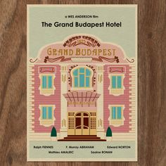 The GRAND BUDAPEST HOTEL Limited Edition Print by MonsterGallery on Etsy https://www.etsy.com/listing/196719922/the-grand-budapest-hotel-limited-edition
