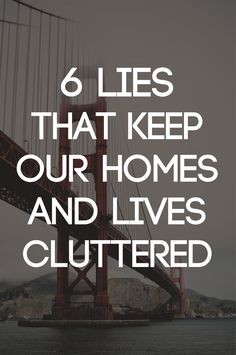 """Great info!  """"We can't organize excess"""" !!! 6 Lies that Keep Our Homes and Lives Cluttered 