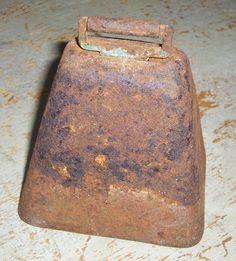 Primitive Cow Bell  Rustic Metal Bell by TheBackShak on Etsy, $17.00