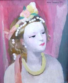 ⊰ Posing with Posies ⊱ paintings of women and flowers - Marie Laurencin | Aquarelle