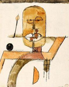 Paul Klee, Der Mensch ist der Mund des Herrn on ArtStack #paul-klee #art