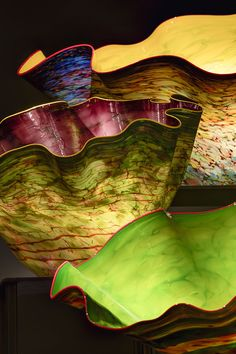 Macchia Forest ~ artist Dale Chihuly, c.2012. Seattle, Chihuly Garden and Glass