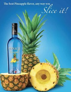 Pinnacle Pineapple is a sweet combination of French imported vodka and the tropical taste of pineapple. A trip to the beach, any way you mix it!