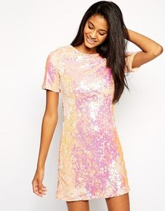I love this sequined dress. It has a shimmer of pink to make it extra girly – definitely another dress to wear with my chunky shoes.http://asos.to/1vujjTm