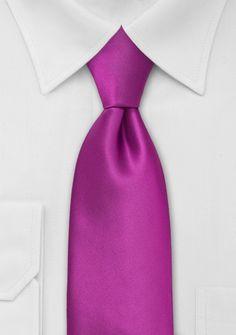 Solid Magenta Pink Tie