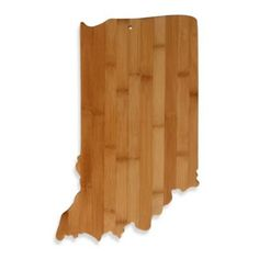 Totally Bamboo Indiana State Shaped Cutting/Serving Board - BedBathandBeyond.com