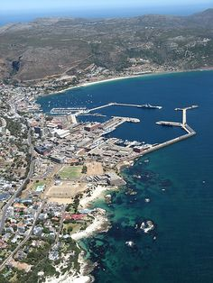 Aerial view of Simonstown, including the navy, harbour and yacht quays. (I was very lucky to be invited on a helicopter ride over the Cape Peninsula, all the way to Cape Point and then inland to the Cape Winelands. Le Cap, Cape Town South Africa, African Countries, We Are The World, Africa Travel, Places To See, Beautiful Places, Scenery, Around The Worlds
