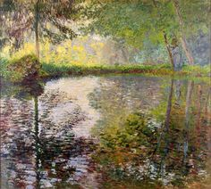 "Claude Monet, ""Pond at Montgeron"" (1876)."