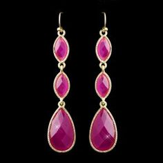 New Bridesmaid 3 Tier Gold  - Earrings - $32.99