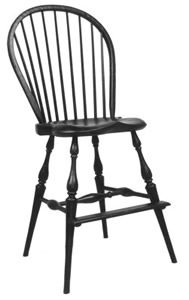 Amish Thumb Back Windsor Swivel Barstool