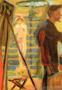 Ernst-Ludwig Kirchner - Heckel und Modell im Atelier