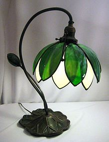 pics of stainglass items | Handel Lily Stained Glass Lamp (item #986573)
