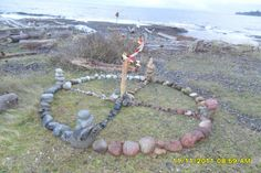 Medicine Wheel November The winds have picked up and are doing their best to wreck the wheel. I've since repaired the center.