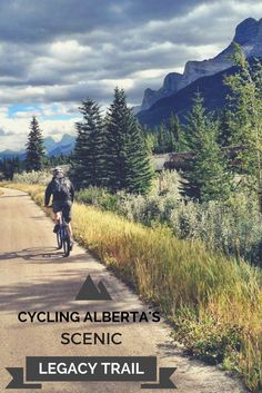 The scenic Legacy Trail in Alberta, Canada connects Banff and Canmore- the perfect way for cyclists to see the mountains!: Mtb, Alberta Travel, Bike Path, Road Bike, Bike Reviews, Banff National Park, National Parks, Bicycle Design, Bike Trails