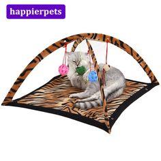 Pet Hanging Bed Round Dot Tower Zebra Leopard Pattern Warm Pet Hammock Pet Cage Hammock Pleasant In After-Taste Pet Products