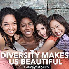 Diversity Makes Us Beautiful  Peathegee Inc for Blend Images #diversitymakesusbeautiful #blendimages #blendartists