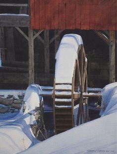 Weston Mill in Winter Robert J O'Brien