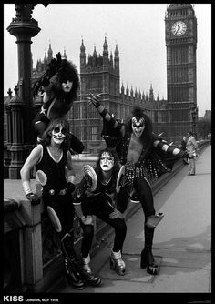 A1 size poster of Kiss in London 1976. Available from our online store.