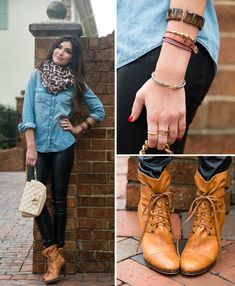 Denim, Leopard and Leather.