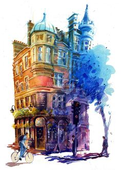 John Walsom is a archtecture illustrator, specialized in acrylics illustrations